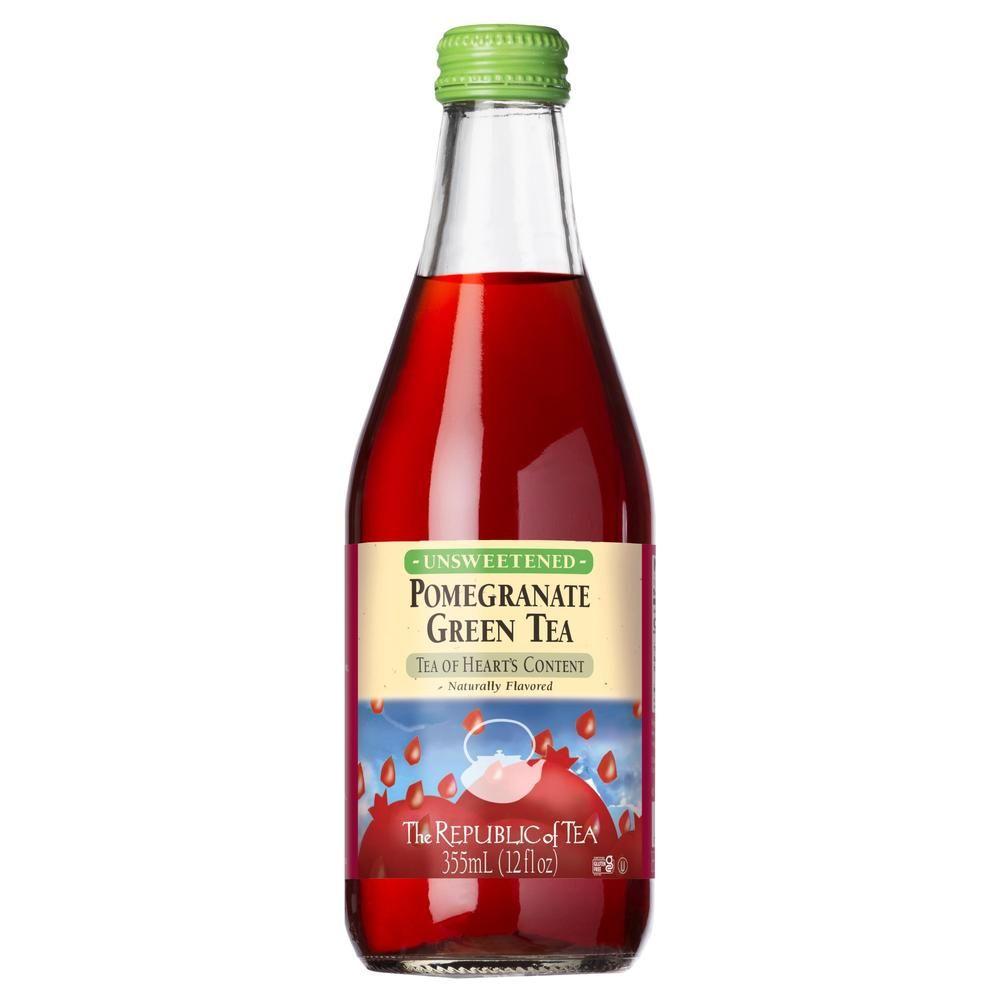 Pomegranate Green Iced Tea - 12 oz