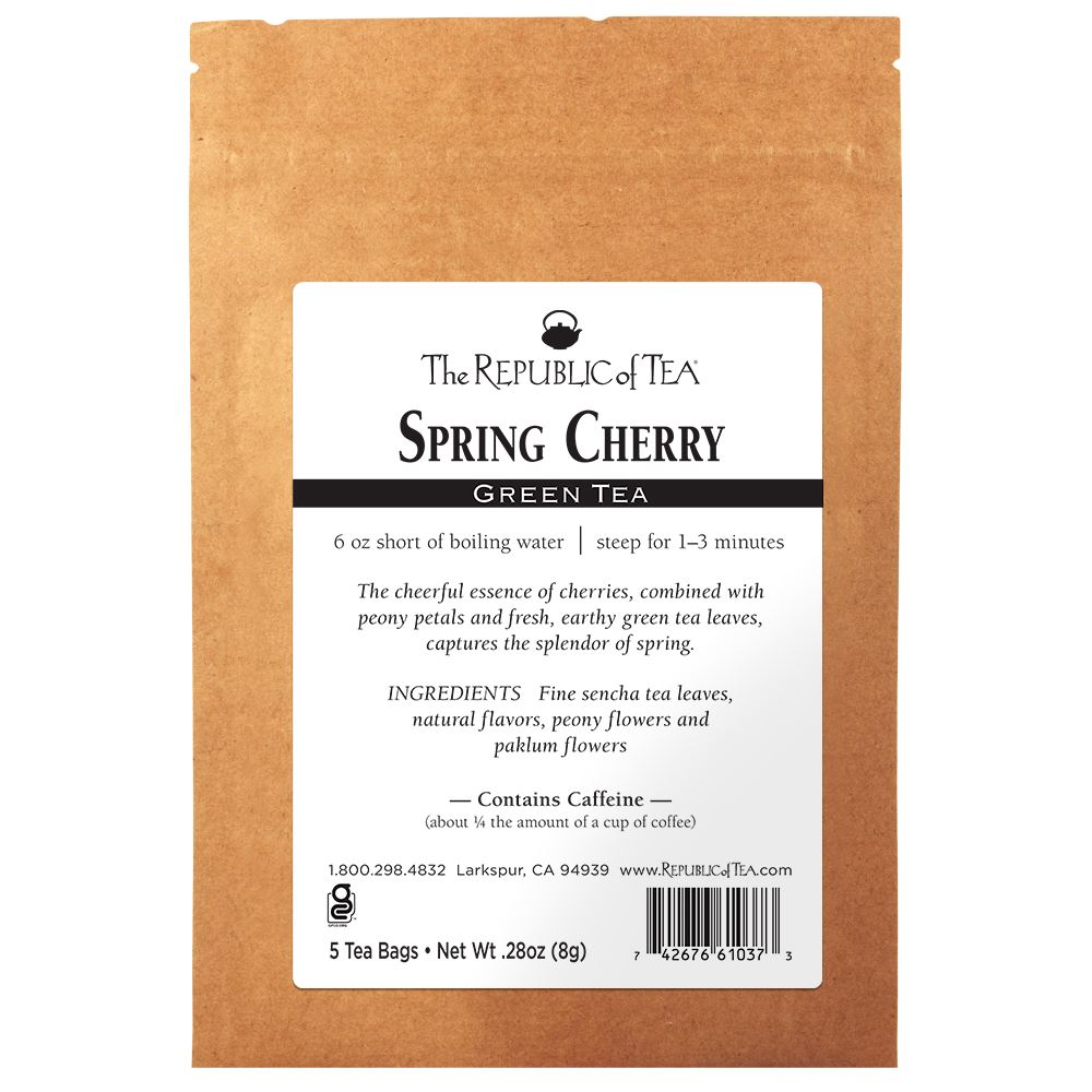 Spring Cherry Green Tea - 5 Tea Bag Sample