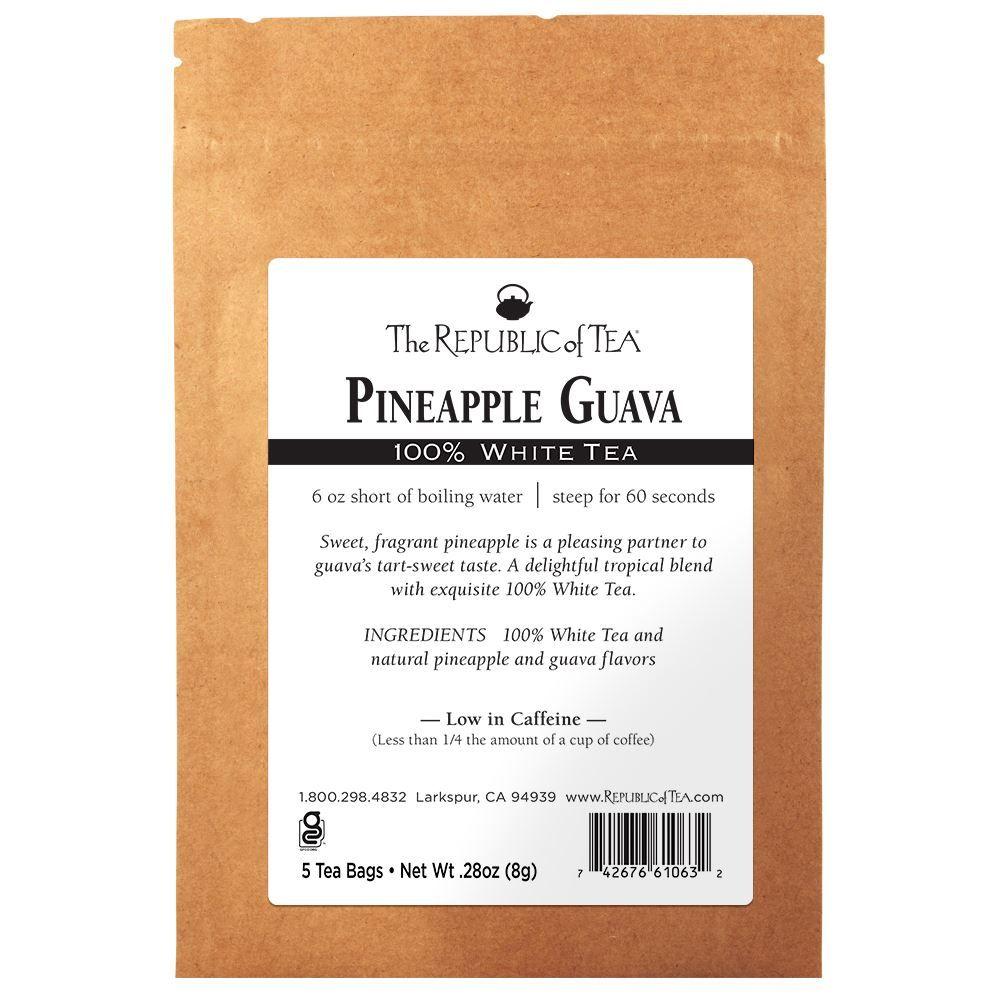 Pineapple Guava 100% White Tea - 5 Tea Bag Sample