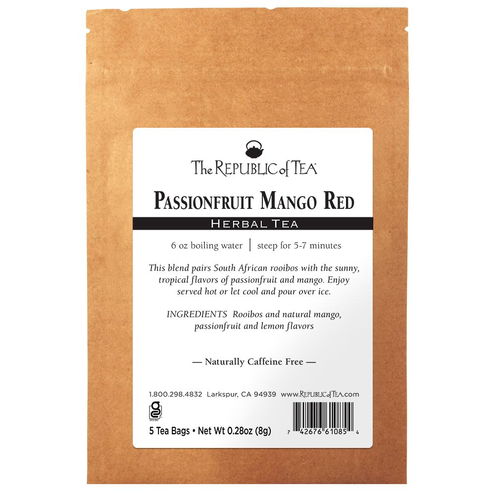 Passionfruit Mango Red Tea - 5 Tea Bag Sample