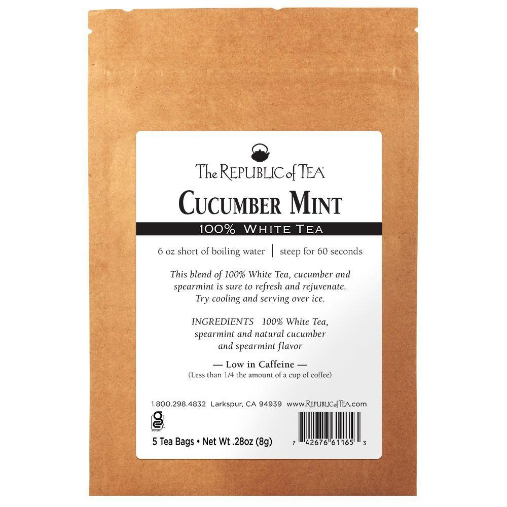 Cucumber Mint 100% White Tea - 5 Tea Bag Sample