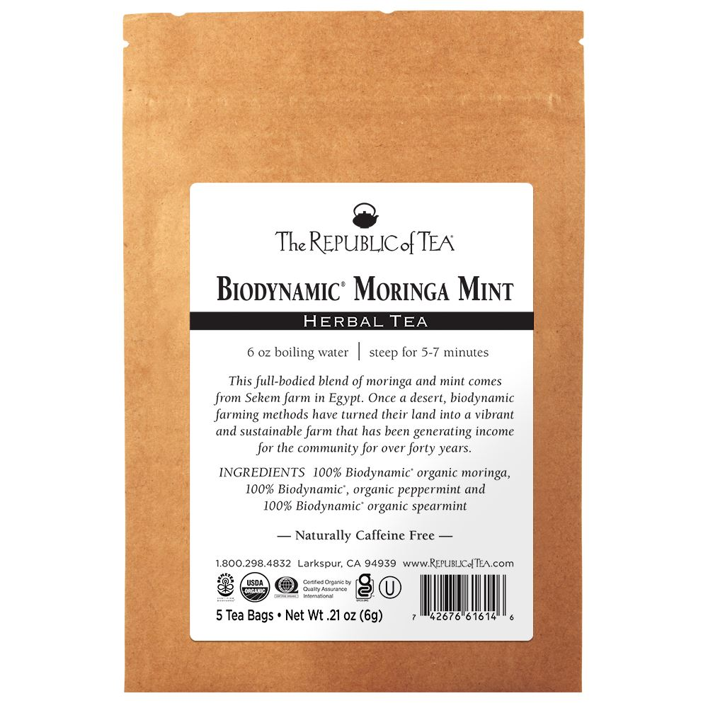 Biodynamic Moringa Mint - 5 Tea Bag Sample