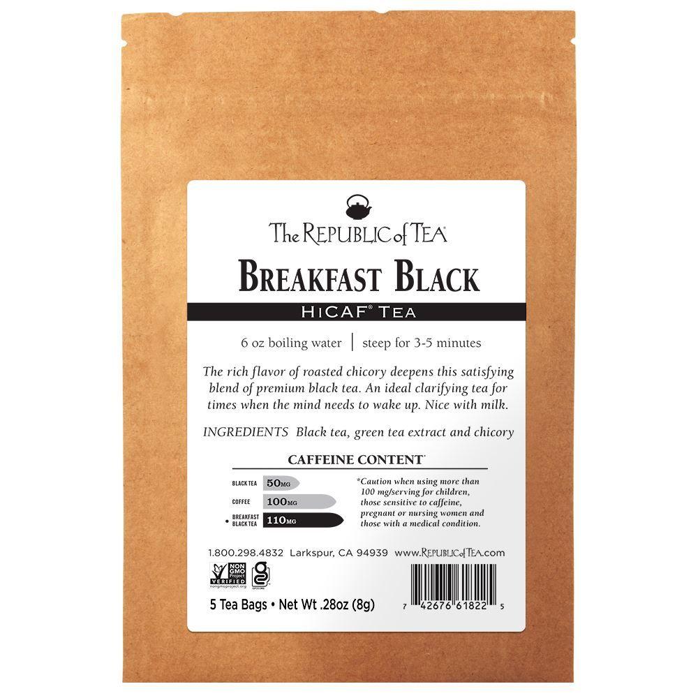 HiCAF® Breakfast Black Tea - 5 Tea Bag Sample