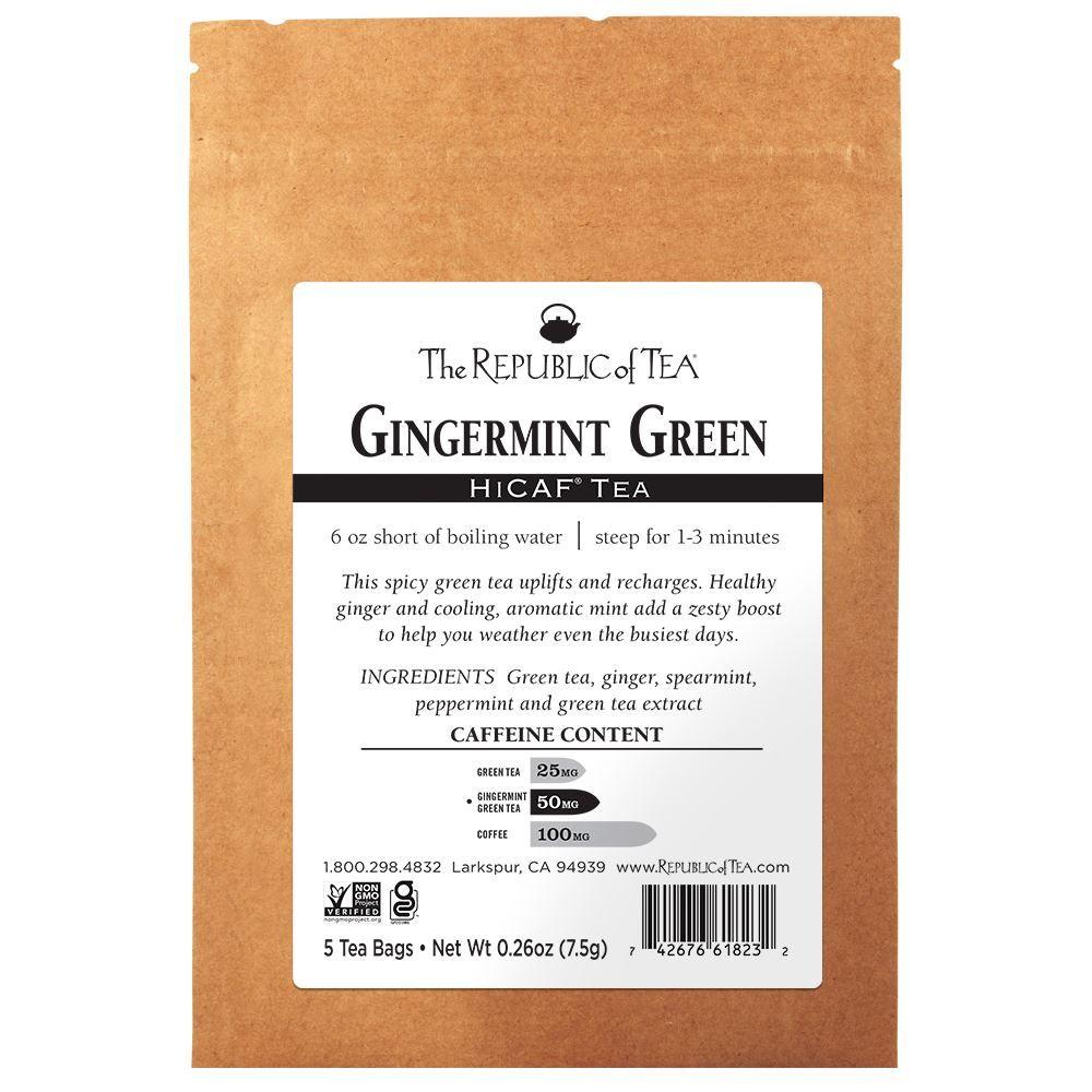 HiCAF® Gingermint Green Tea - 5 Tea Bag Sample
