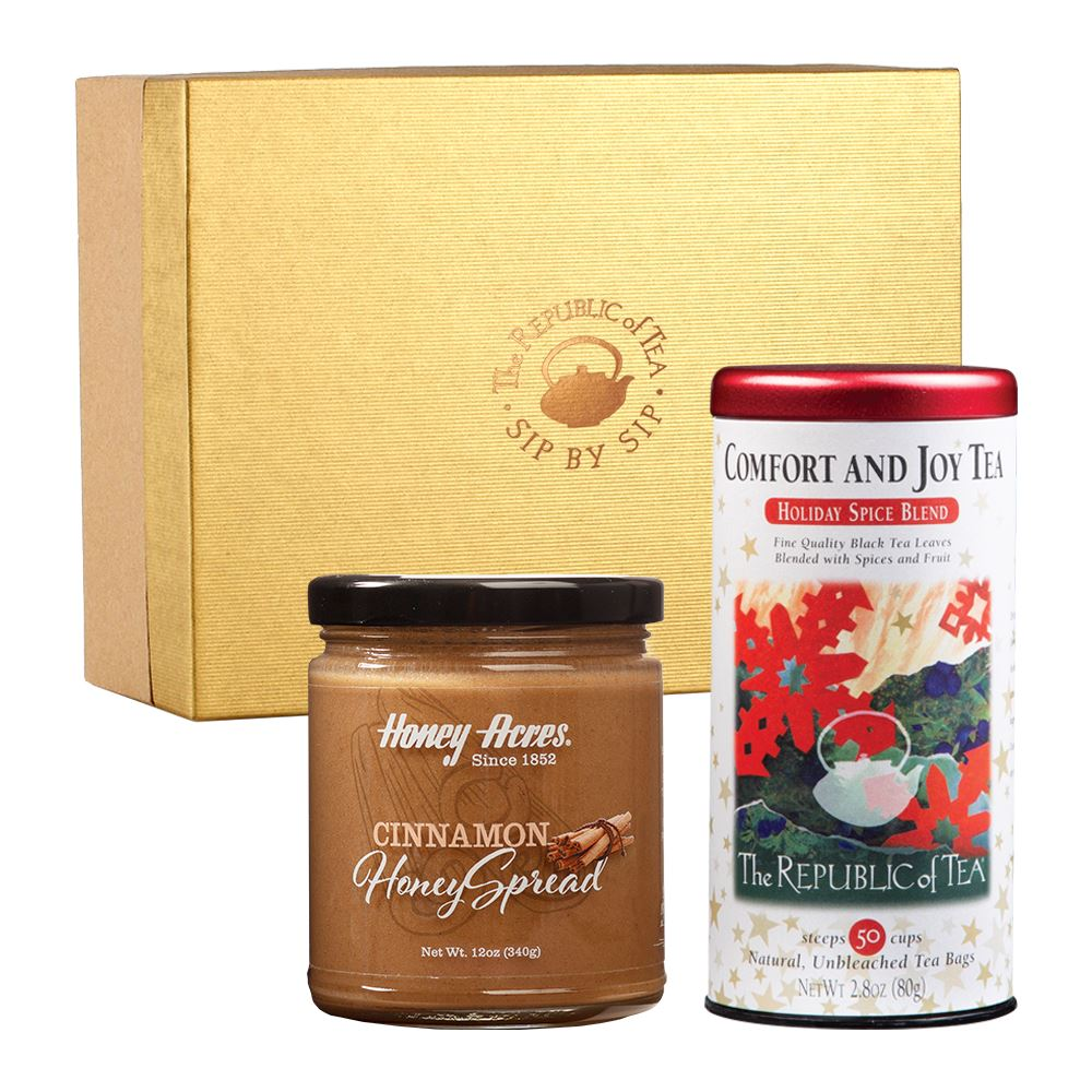 Custom Seasonal Tea and Honey Gift Set