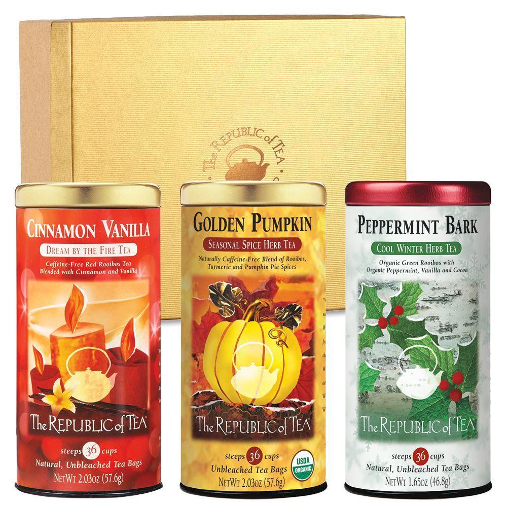 Custom Gift of Three Seasonal Teas