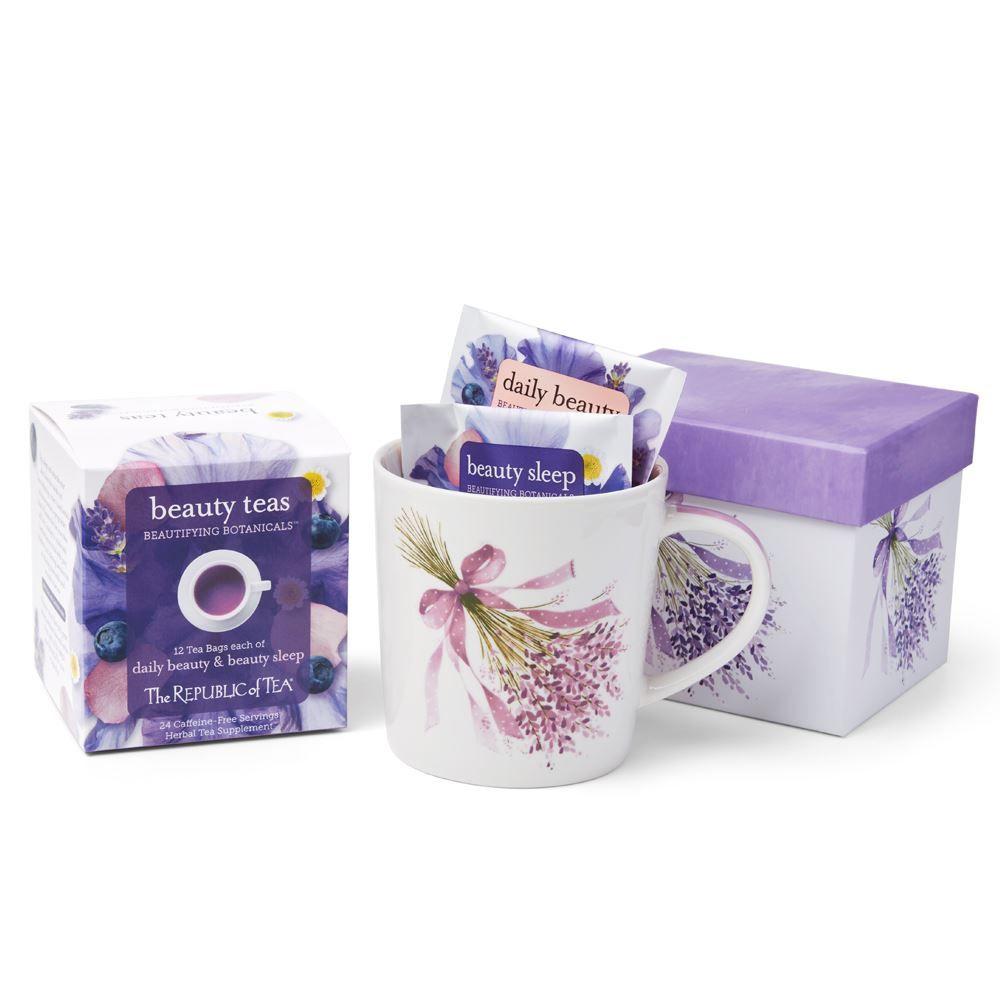 Lavender Mug with Beautifying Botanicals® Tea Assortment