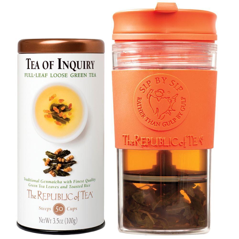 Sip by Sip Travel Press & Leaf Tea Custom Gift Set