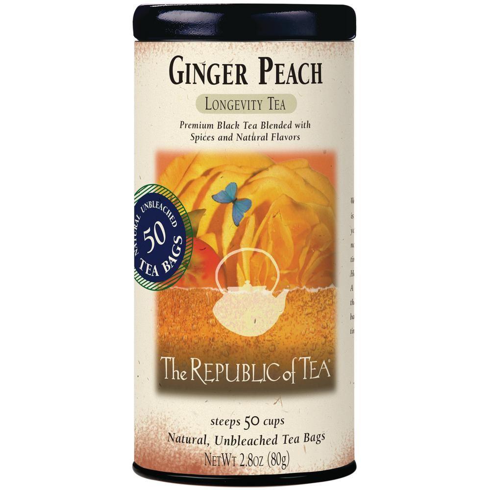 Ginger Peach Black Tea Bags