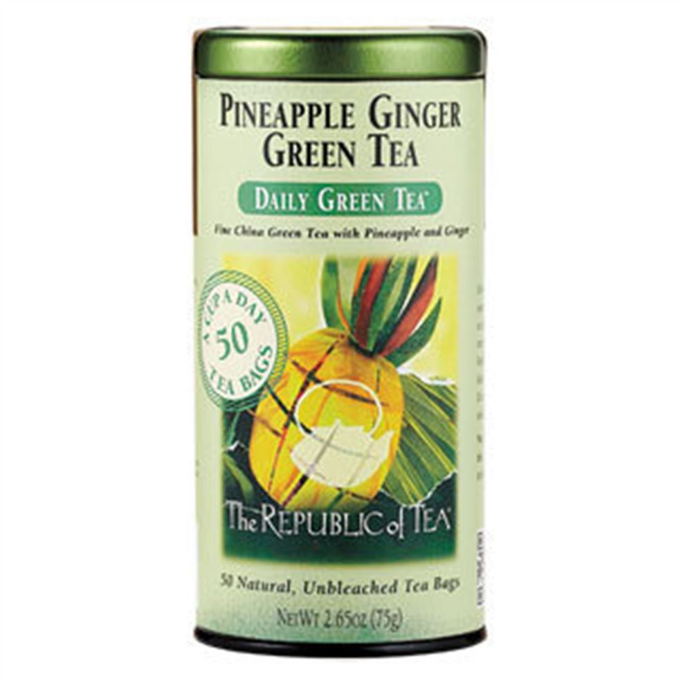 Pineapple Ginger Green Tea Bags