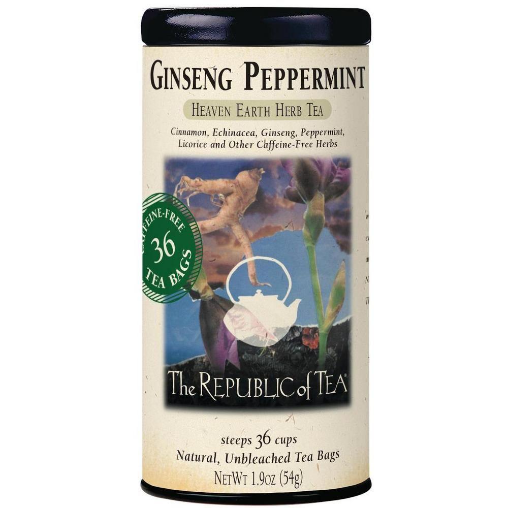 Ginseng Peppermint Herbal Tea Bags