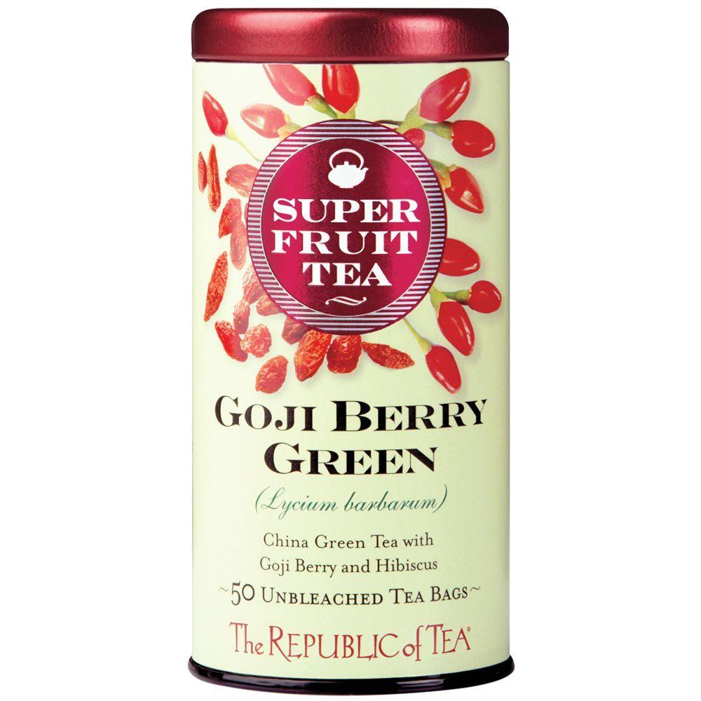 Organic Goji Berry Green Superfruit Tea Bags