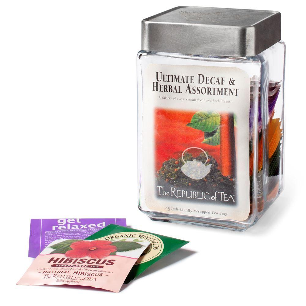 Ultimate Decaf and Herbal Tea Bag Assortment Jar