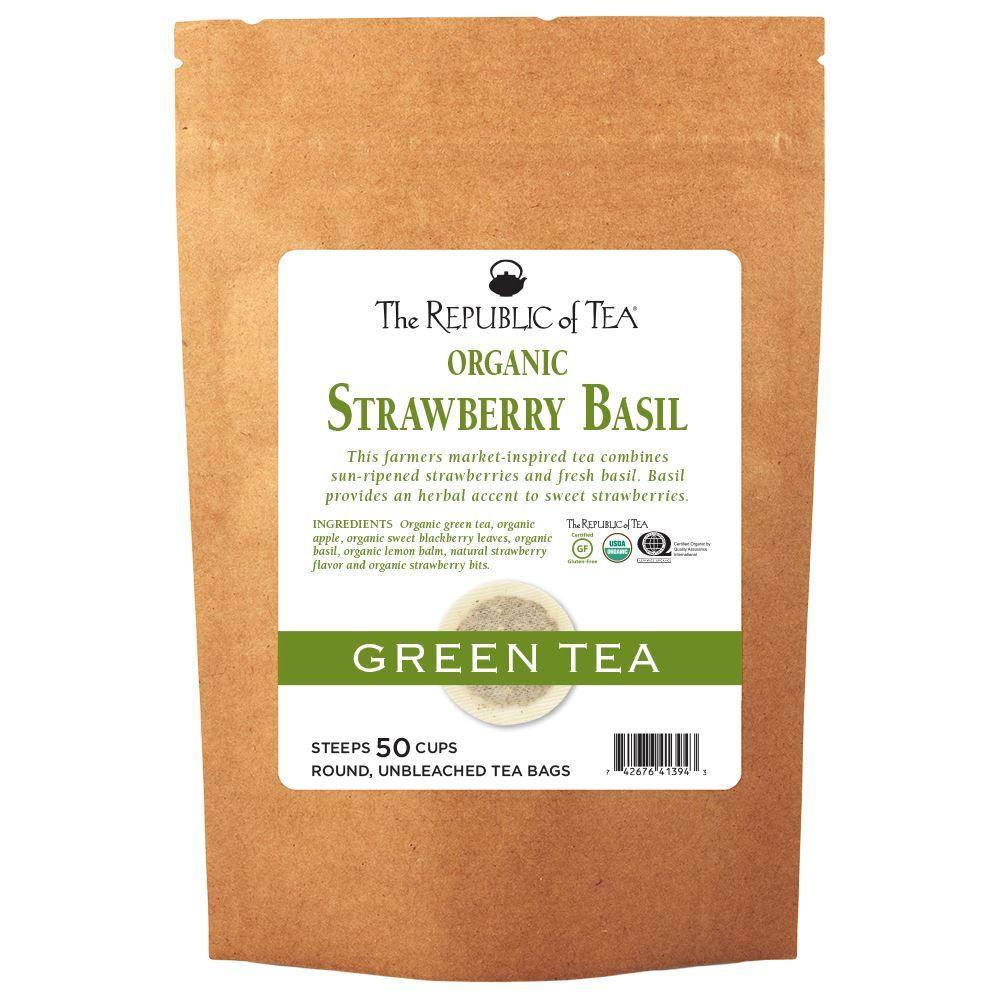 Strawberry Basil Green Tea Bags