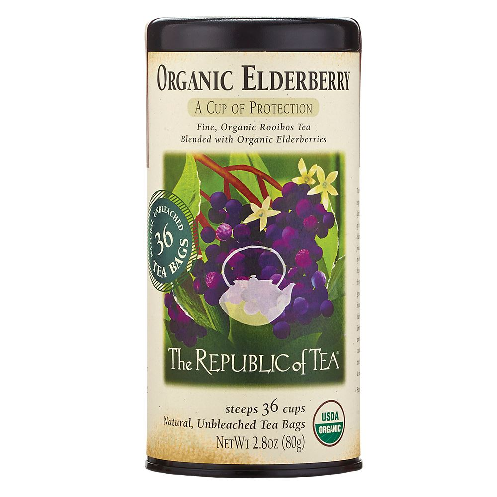 Organic Elderberry Red Tea Bags