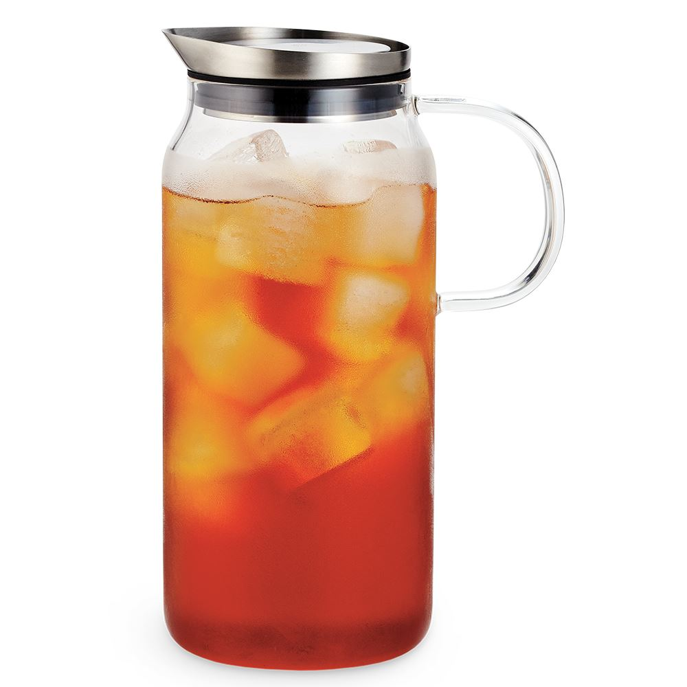 Glass Pitcher with Fitted Lid