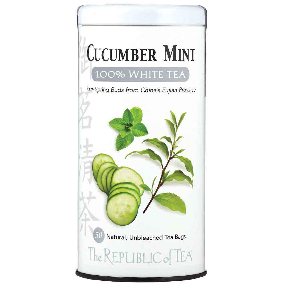 Cucumber Mint 100% White Tea Bags