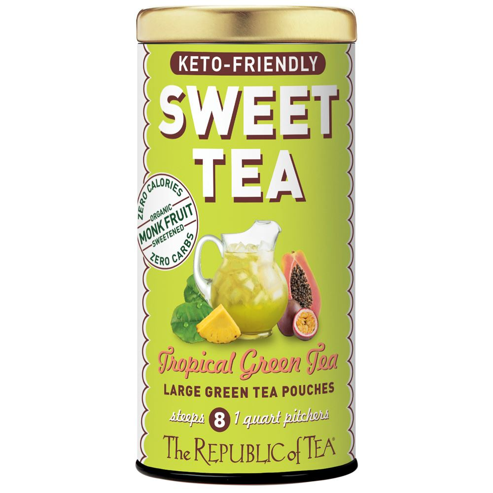 Keto-Friendly Sweet Tropical Green Iced Tea
