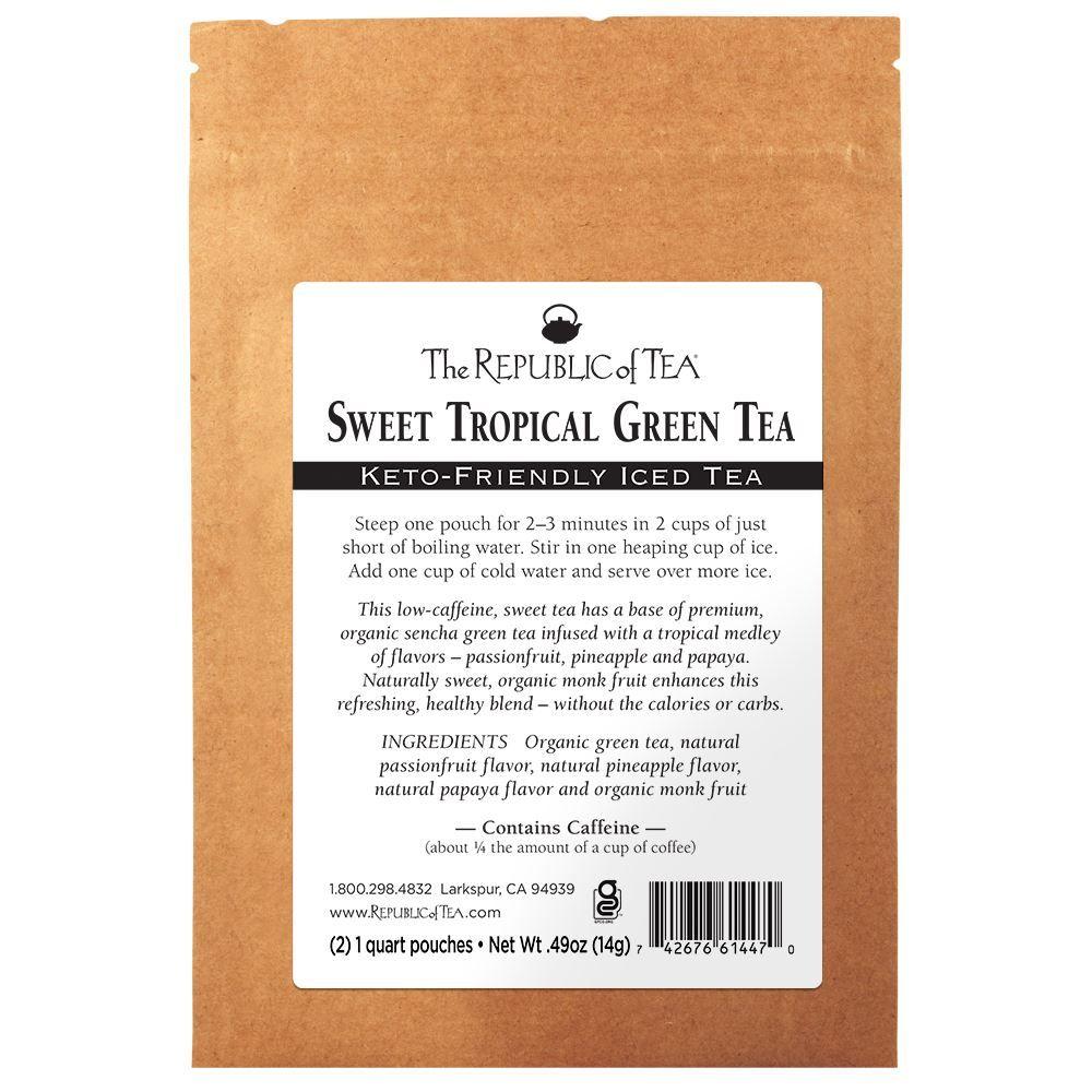 Keto-Friendly Sweet Tropical Green Iced Tea   Sample