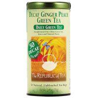 Ginger Peach Decaf Green Tea Bags