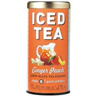 Ginger Peach Black Iced Tea Pouches