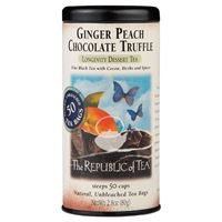 chocolate ginger peach dessert tea