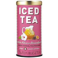 White Hibiscus Passionfruit Large Iced Tea Pouches