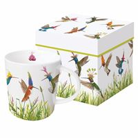 Festive Hummingbirds Boxed Mug