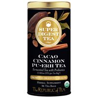 Organic SuperDigest™ Cacao Cinnamon Pu-erh Tea Bags