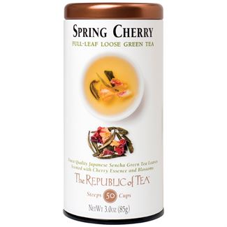 Spring Cherry full leaf tea Green Tea