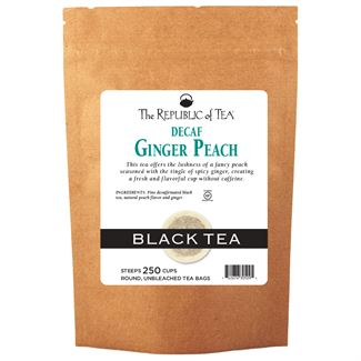 Decaf Ginger Peach Black Tea Bags