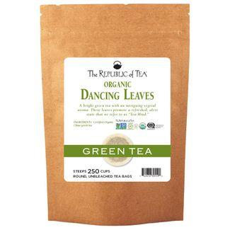 Organic USDA Dancing Leaves Green Tea Bags
