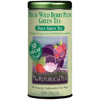 Decaf Wild Berry Plum Green Tea Bags