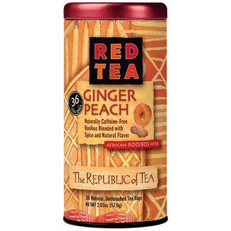 Ginger Peach Red Tea Bags