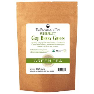 Goji Raspberry Green Tea Bags