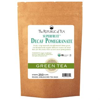 Decaf Pomegranate Green Tea Bags