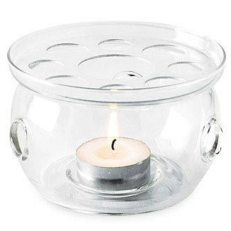 Glass Candle Warmer With Candle The Republic Of Tea