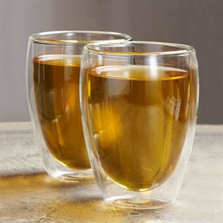 Pavina Insulated Glass Cups (Set of 2)