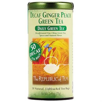 Decaf Ginger Peach Green Tea Bags