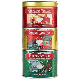 Holiday Stackable Tea Tins