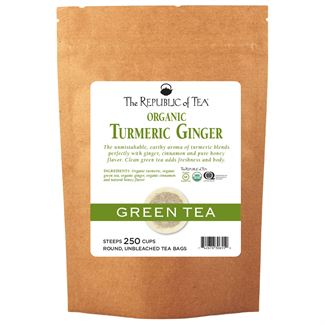 Organic Turmeric Ginger Green Tea Bags