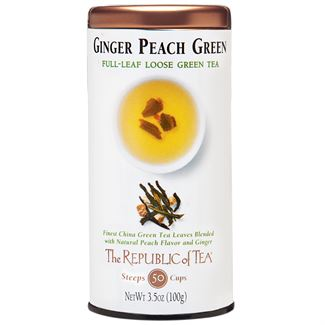 Ginger Peach Green Full-Leaf Tea