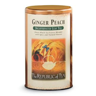 Ginger Peach Decaf Display Tin