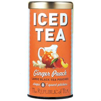 ginger peach black large iced tea pouches the republic of tea