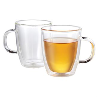 Double Wall Glass Mug (Set of 2)