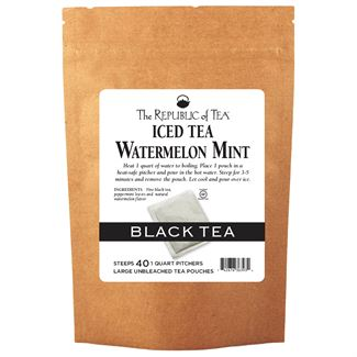 Watermelon Mint Black Large Iced Tea Pouches