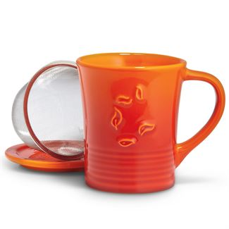 Orange Spice Dancing Leaves Mug