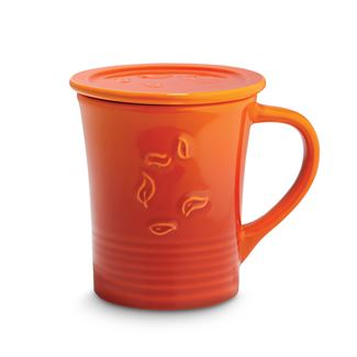 Orange Spice Dancing Leaves Mug