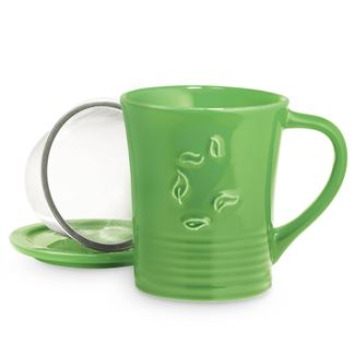 Daily Green Dancing Leaves Mug