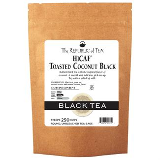 Toasted Coconut Black HiCaf™ Tea Bags